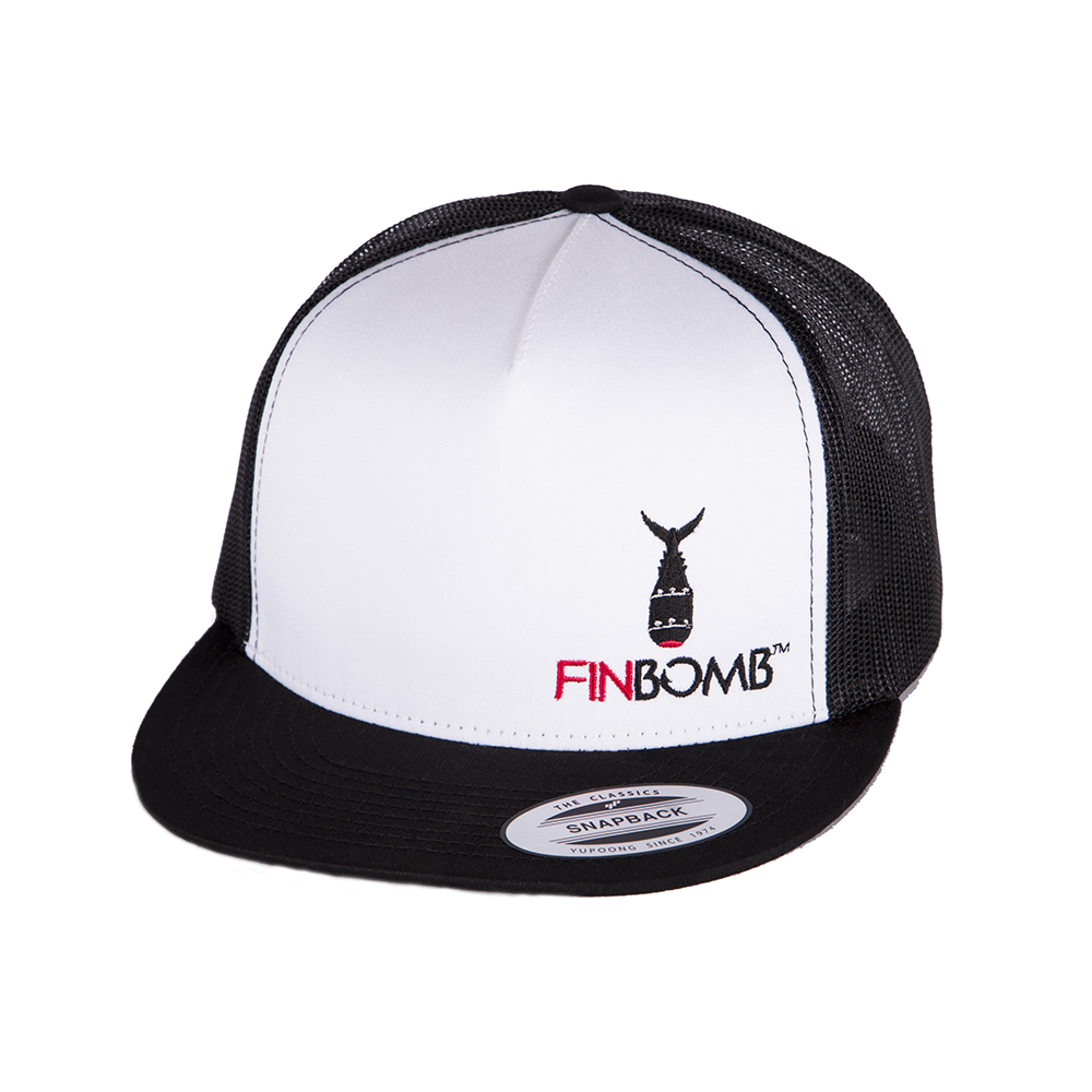 Finbomb fishing hat trucker snapback front for Fishing trucker hats