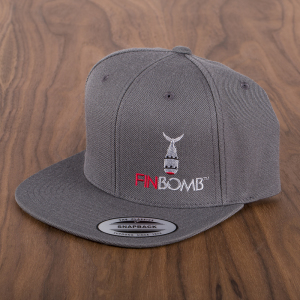 Finbomb Fishing Hat gray efront