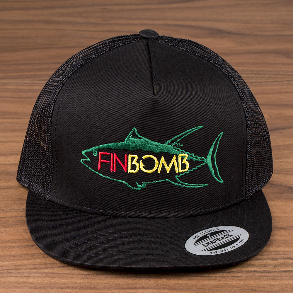 7p4b0370 finbomb for Mesh fishing hats