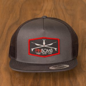 speargun patch mesh snapback charcoal front