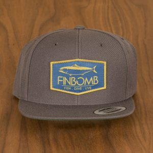 yellowtail patch snapback charcoal front