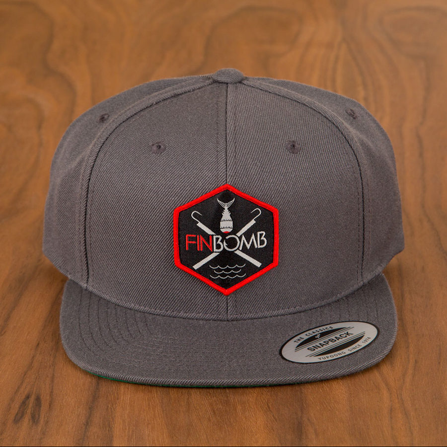 Double Gaff Water Patch Snapback Hat (6089 CHARCOAL)  db2048cd878